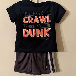 Champion Basketball Dunk shirt & shorts 6-9 Months